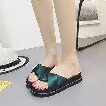купить 2019 Flip Flops Women Beach Female Slides Fashion Slippers Comfort Summer Casual Ladies Shoes Flat Sandals chanclas mujer по цене 720.02 рублей