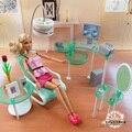 Новый летний компьютерный зал гостиной комплект для куклы барби, Мода мини-кукла мебель собраны игрушки для ребенка бесплатная доставка