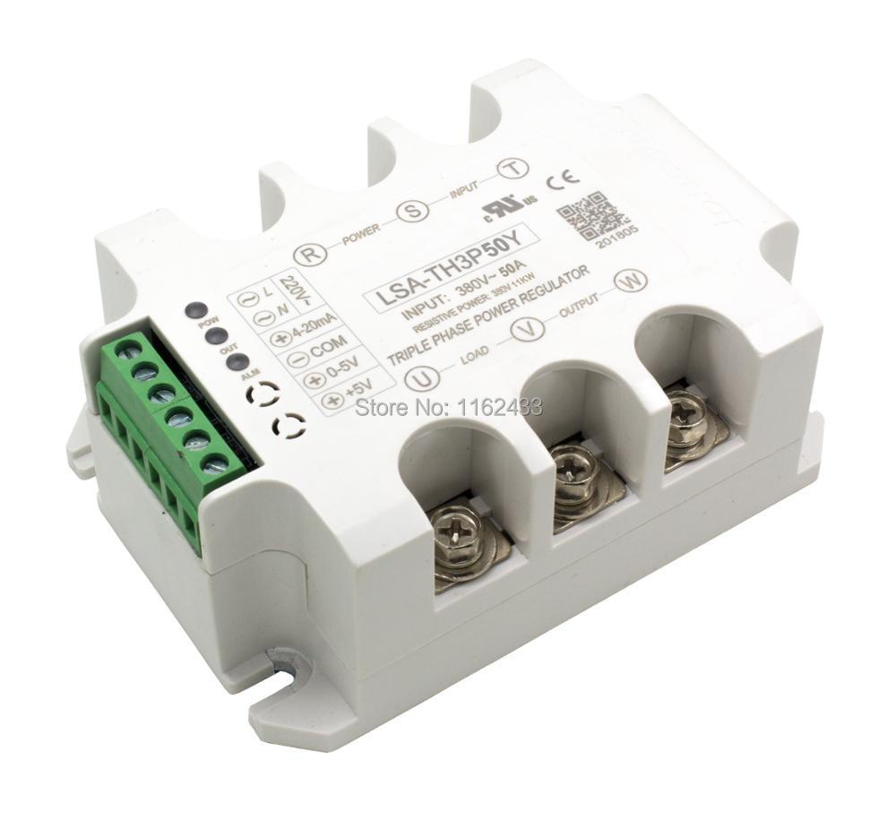LSA TH3P50Y three phase AC 50A 380V solid state voltage regulator / power regulator module