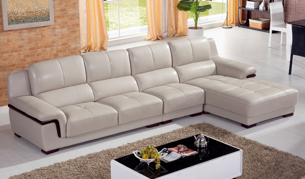 Chaise European Style Set Modern No Rushed Bean Bag Bean Bag Chair Armchair  Living Room 2016 Hot Sale Geniune Leather Sofa - Bean Bag Sectional Promotion-Shop For Promotional Bean Bag