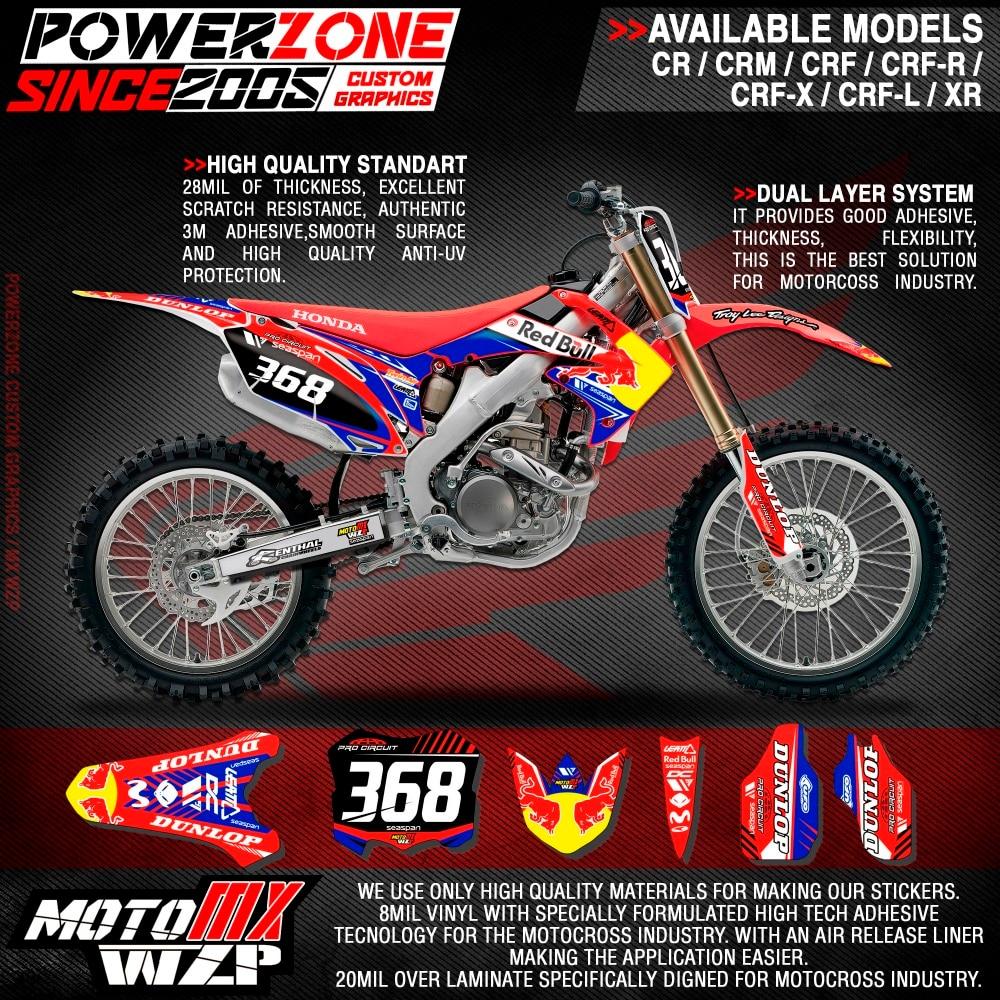 Online Get Cheap  Dirt Bike Graphics Aliexpresscom Alibaba - Red bull motorcycle custom stickers