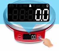 LCD kitchen scales household electronic digital Food Weighting Stainless steel cooking food precision 3kgx 0.1g / 5kg x 1g