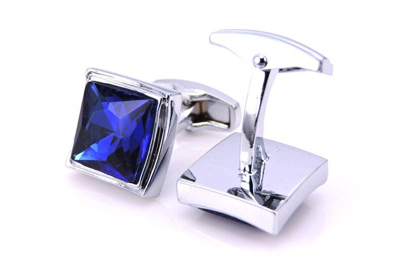 C-MAN luksoze me këmishë bluzë kristal blu për mens Butonat e - Bizhuteri të modës - Foto 5
