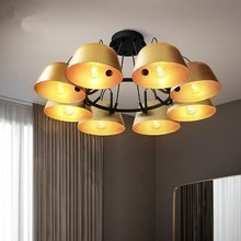 JAXLONG Retro Creative Minimalist Pendant Lights Personality hanglamp Bedroom Lamp Golden Restaurant Cover Cafe lighting