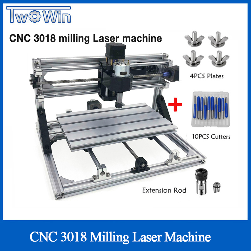 CNC 3018 ER11 DIY Mini CNC Engraving Machine PCB Milling Machine Wood Router Laser Engraving GRBL