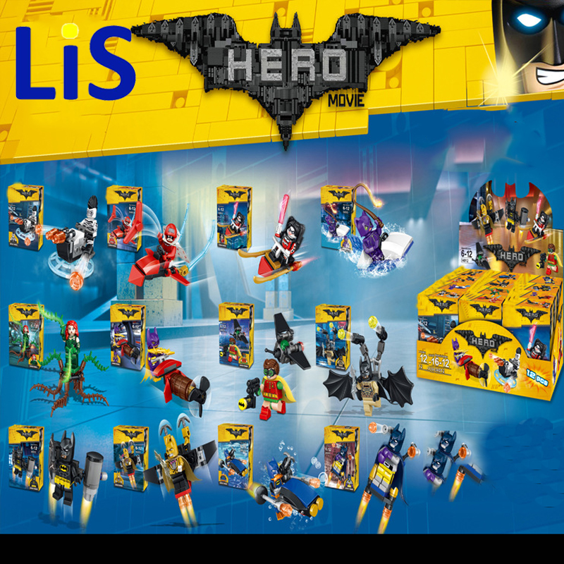 Lis Super Heroes Movie Joker Poison Ivy Calendar of People Batman Robin Bricks Building Blocks Children Toys LELE 34012 a toy a dream super heroes movie joker poison ivy calendar of people batman robin bricks building blocks toys lele 34012