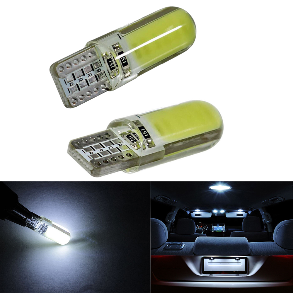 SEALIGHT Car T10 W5W 168 LED car interior light Silica gel COB lamp 12V 194 501 Side Wedge parking bulb canbus auto for lada carprie super drop ship new 2 x canbus error free white t10 5 smd 5050 w5w 194 16 interior led bulbs mar713