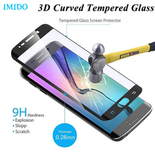IMIDO 3D Curved Full Cover Tempered Glass Film Screen Protector for Samsung Galaxy S6Edge S6 edge plus S7 edge S7Edge
