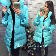 2017 New Plus Size Winter Wadded Jacket Women Thick Warm Hooded Long Down Cotton padded Jacket