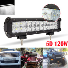 120W 12inch Led Chips 5D Auto SUV Combo for Vehicle Driving Led Lamp Bar Suitable For Truck SUV Boat ATV Car Work Lights