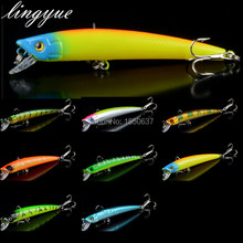 new 1pcs tight minnow fishing lures 8 colors good quality fishing bait hard body 3d eyes fishing tackle 9.5cm/8g