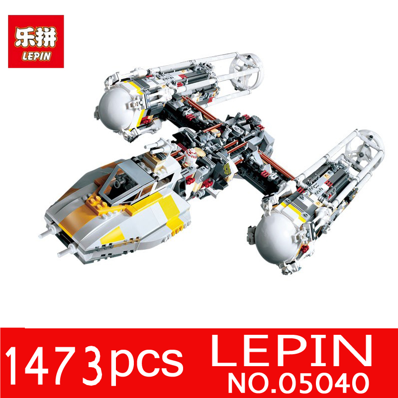 LEPIN 05040 1473Pcs Star Series Wars Y-wing Attack Starfighter Model Building Blocks Bricks for Children Toys Compatible 10134