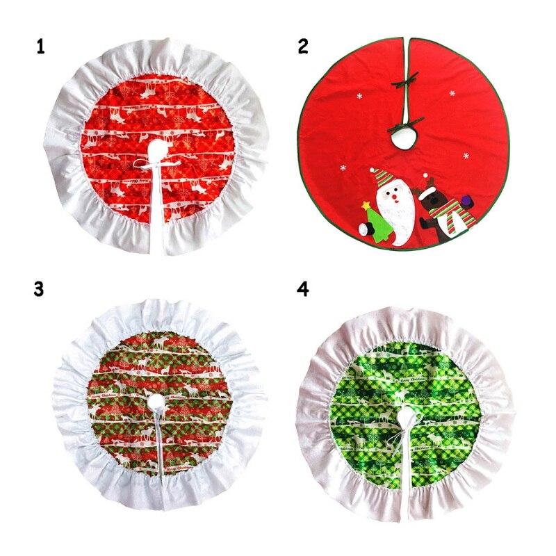 Рождественская елка юбка красный круглый стеганые Санта Клаус дом вечерние декора Обложка Юбки для ёлки Decoracion Navidad 60 см/90 см