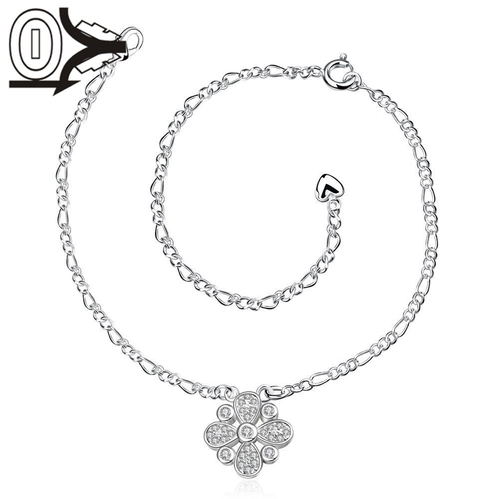 A025 Free Shipping New Design Large Stock Delicate Handmade Cheap Silver Plated Anklet Ladies Feet Chain Bracelets Bulk Sale