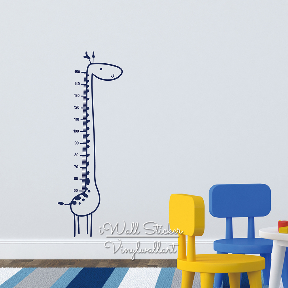 Baby nursery giraffe growth chart wall sticker giraffe height chart baby nursery giraffe growth chart wall sticker giraffe height chart wall decal kids room children wall decal cut vinyl n5 in wall stickers from home geenschuldenfo Image collections