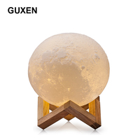3D Printing Moon LED Lamp Night Light Smart Touch Dimmable 2 Modes Brightness With USB Charging