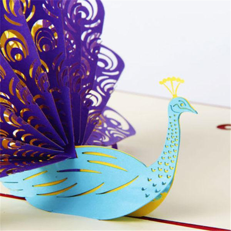 Handmade 3d peacock pop up cards birthday cake happy birthday handmade 3d peacock pop up cards birthday cake happy birthday christmas postcard gift for girlfriend boyfriend in cards invitations from home garden on bookmarktalkfo Images