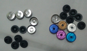 Image 2 - 500 teile/los 10ml Fläschchen Mit Gummi Stopper Flip Off Kappen Oder Al Kappen Glas Flaschen