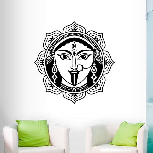 zooyoo indische shiva wandaufkleber steuern dekor wohnzimmer hohe qualitat vinyl hinduismus gott wandtattoos kunst wandbilder