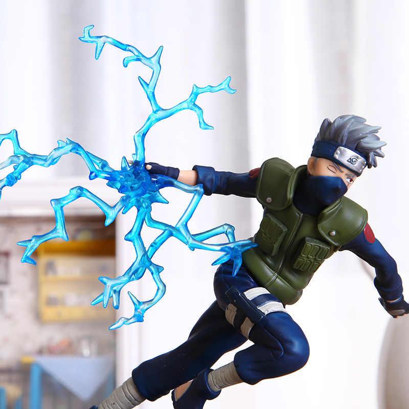 22 centímetros Fresco Naruto Kakashi Sasuke Figura de Ação Anime fantoches Figura PVC Brinquedos Figura Modelo de Mesa de Mesa Acessórios de Decoração