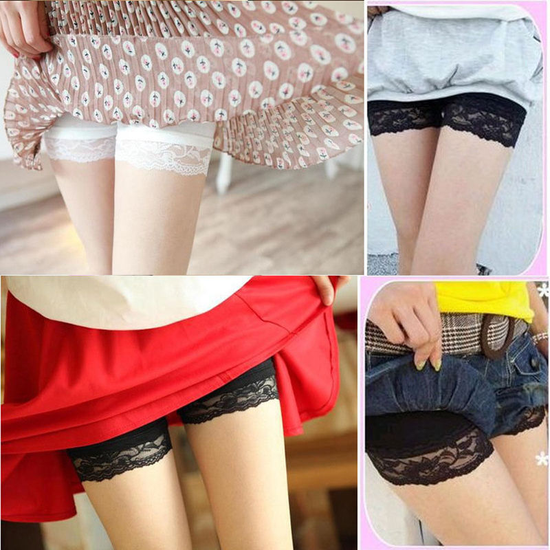 1f25444e67630 Safety Shorts Women Short Spandex Elastic Lace Pants Safe Underwear White  Black Hip Pads Boxer Woman-in Safety Short Pants from Underwear &  Sleepwears on ...