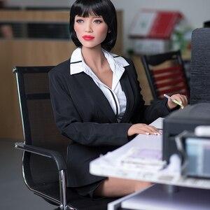 Image 2 - 165cm 일본 실리콘 섹스 인형 애니메이션 큰 가슴 섹스 인형, 현실적인 전신 성인 사랑 인형 금속 해골, 진짜 질 구강