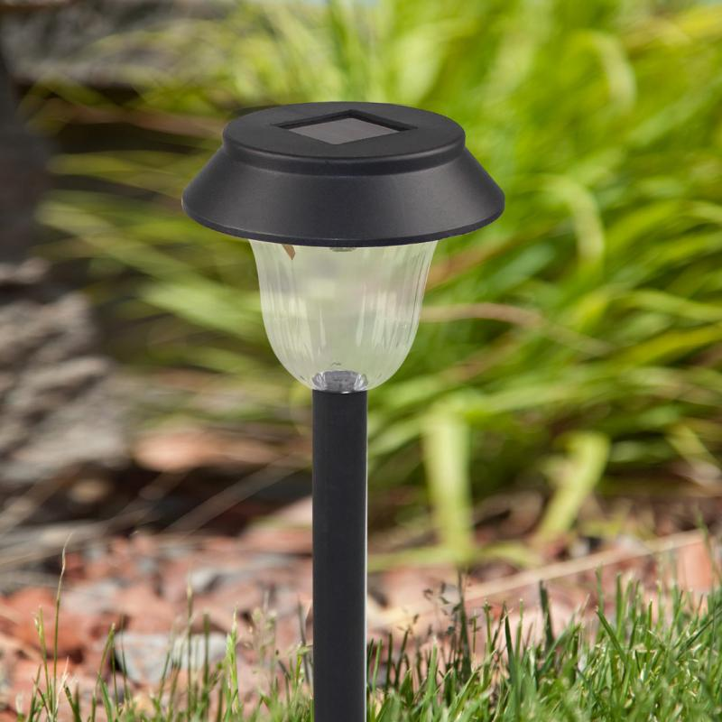 1 Set of 10 Plastic Garden LED White-Light Solar Lawn Lights Pathway Outdoor Garden Path Party Lamp stainless steel solarlampen spike light hollow engraving landscape garden path lawn solar lamps outdoor grounding sun light