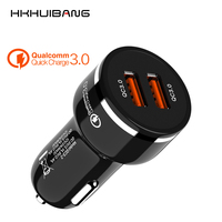 48W Dual Quick Charge 3.0 QC Car USB Charger Fast Auto Charger For iPhone X Samsung S10 Xiaomi Mobile Phone USB Charger Adapter