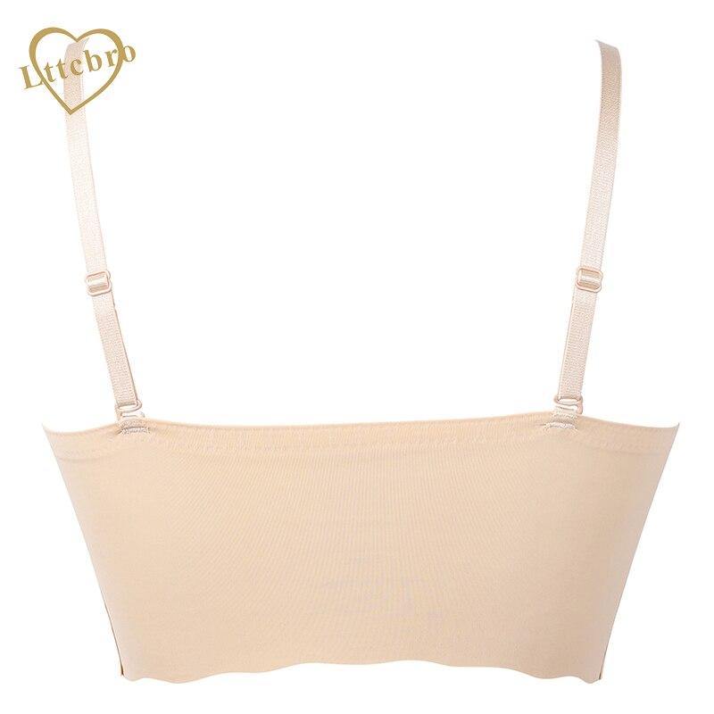 d0726035c8a01 Women Seamless Bra Push Pad Maternity Nursing Bras Sleep Bra Adjusted  straps Black nude Crop Top Padded -in Bras from Underwear & Sleepwears on  ...