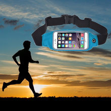 Unisex Sports Running Gym Waist Belt Bag waterproof fanny pack mobile phone Pouch Case Cover for iphone #PEX(China)