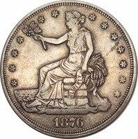 Hoa Kỳ 1873 1873 S 1874 1874 S 1876 S 1876 CC 1877 1878 S Liberty Ngồi Một Đô La Thương Mại Dollar 90% Bạc Sao Chép đồng xu