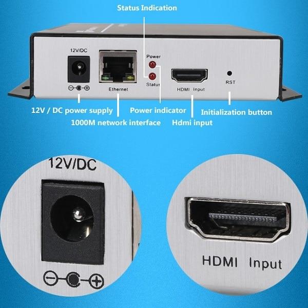 H.264 IPTV Encoder HDMI Video Encoder HDMI Encoder, Live Stream - სახლის აუდიო და ვიდეო - ფოტო 1