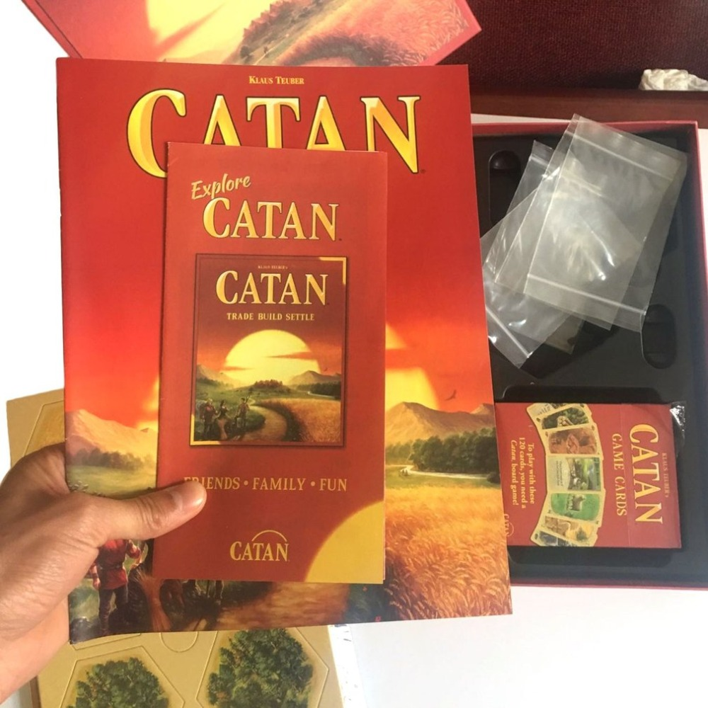 Catan Brettspiel Familie Spaß Spielkarte Spiel Spielzeug Pädagogisches Thema Englisch Innen Seite Tabelle Party Supplies Drop Shipping Clear-Cut-Textur