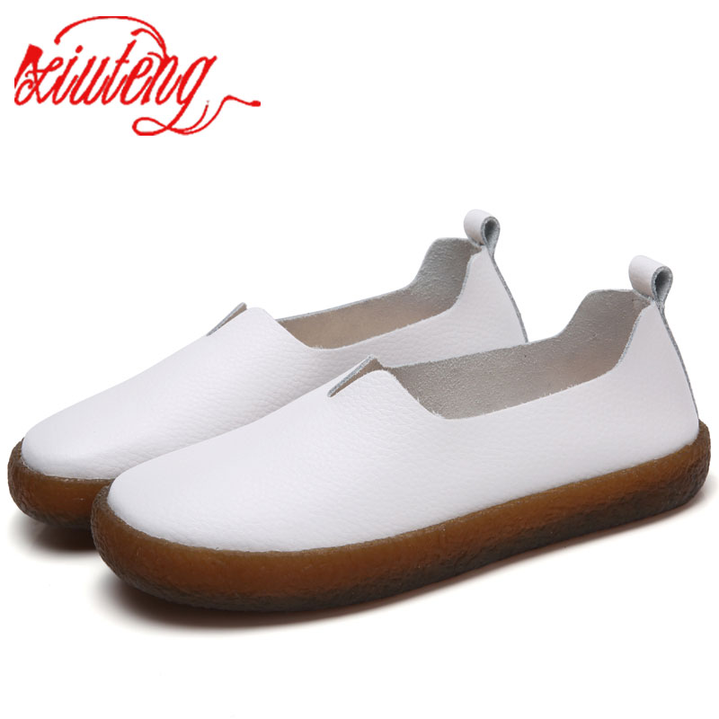 Xiuteng Big Size Women Flats Candy Color Shoes Woman Loafers Summer Fashion Sweet Flat Casual Leather Shoes Women Zapatos Mujer pinsen summer sneakers fashion shoes woman flats casual mesh flat shoes designer female loafers shoes for women zapatillas mujer