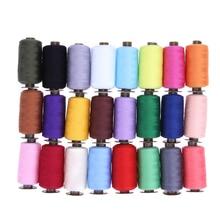 24 Pcs 1000 Quintal linha do Bordado Máquina de Costura Threads Poliéster Linhas De Costura Mão Remendo de Direção-roda de Costura Suprimentos