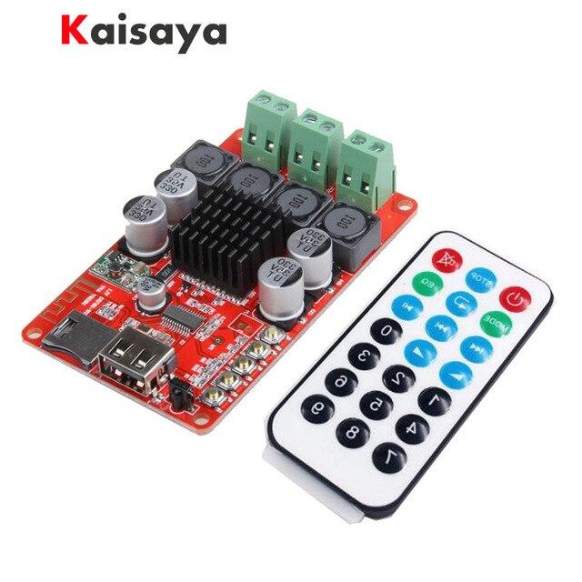 TPA3116 Bluetooth Ontvanger 50W * 2 Digitale Audio Versterker Board Tf Card U Disk Speler Fm Radio Met Afstandsbediening contro I 2 001