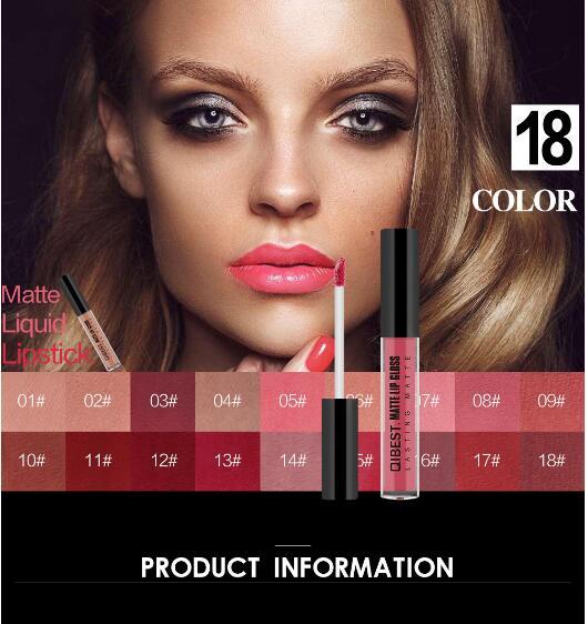 FOCALLURE Водонепроницаемый длительный блеск для губ пигмент темно-фиолетовый, черный красный бархат Матовая жидкая помада много макияжа