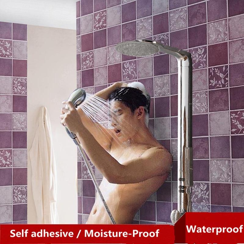 Modern Vinyl Wallpapers for Walls 3D Bathroom Wall Stickers PVC Mosaic Wall Flooring Kitchen Waterproof Tile Plastic Home Decor