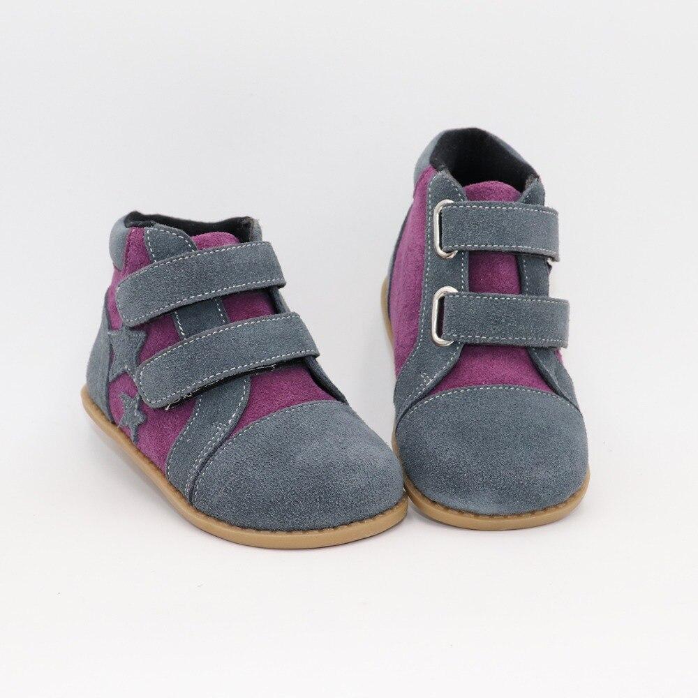 Tipsietoes novo inverno crianças sapatos de couro descalço martin star botas crianças neve meninas meninos borracha da forma tênis bota