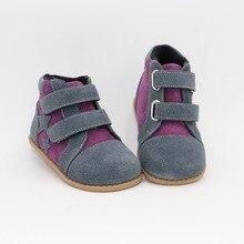 Tipsietoes חדש חורף ילדי נעלי יחף עור מרטין כוכב מגפי ילדי שלג בנות בני גומי אופנה סניקרס בוטה