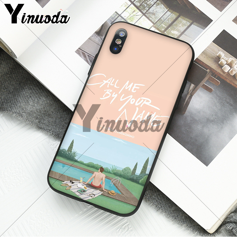 Yinuoda Call Me by Your Name Coque Shell Phone Case for iPhone 6S 6plus 7 7plus 8 8Plus X Xs MAX 5 5S XR