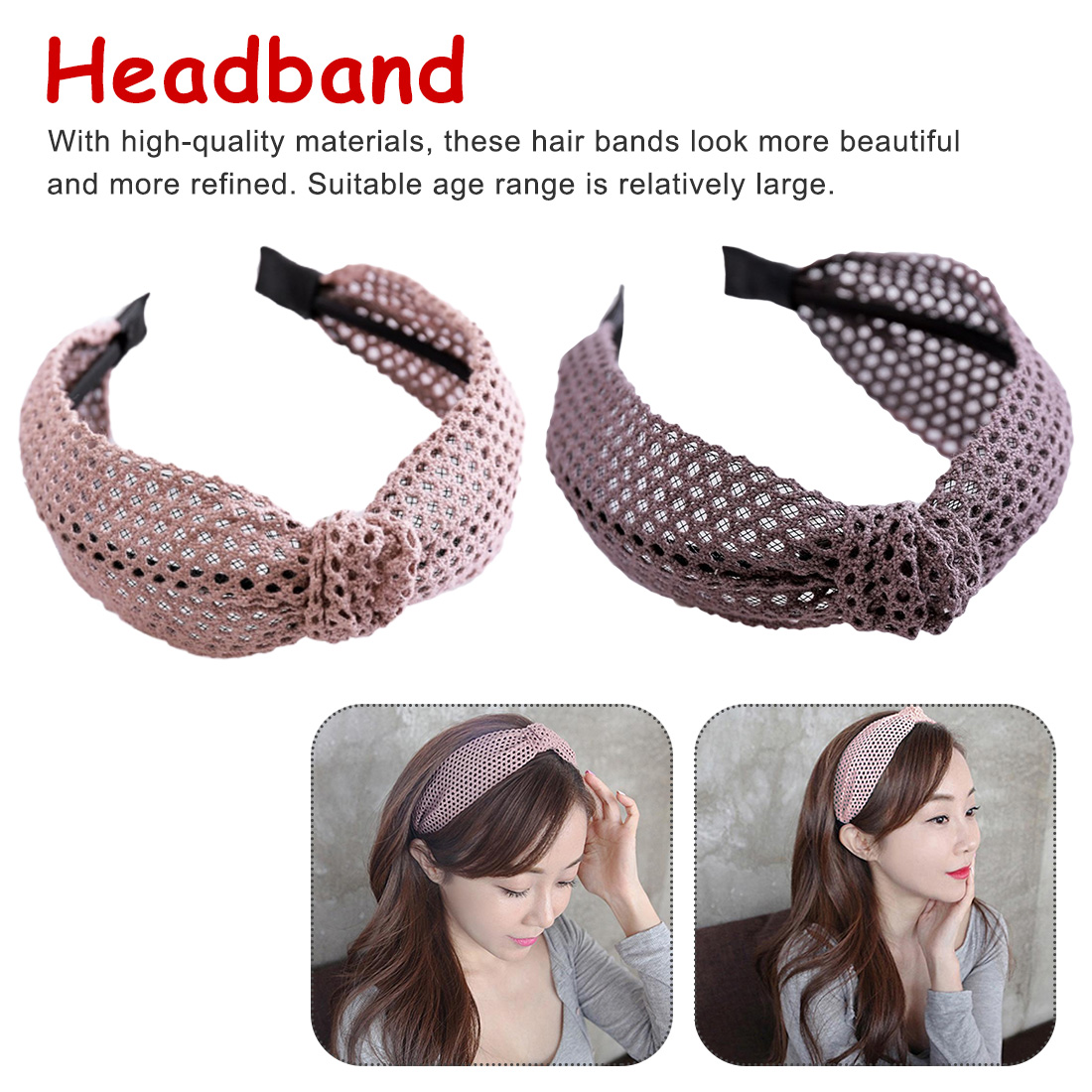 Headband Bohemian Womens Simple Sweet Headbands For Women 2019 Decoration Fabric Scarf Girls Accesorios Cross Knot Hair Bands,C