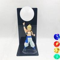 DBZ Red Dragon Ball Son Goku Toy Spirit Bombs Night Lamp 3D Lampada Figura GOKU Lights Dragon Ball Room Decorative Home Lighting