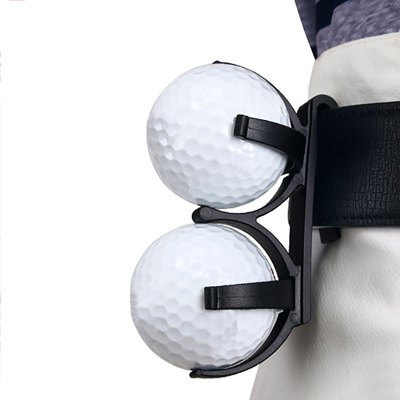 Golf Ball Clip  Rotatable Plastic Waist Clip Organizer Golfer Golfing Sporting Training Tool Accessory For 2 Balls