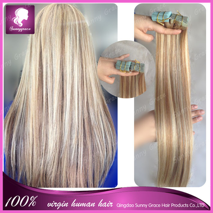 "mixed color tape hair 16"" 18"" 20"" 22"" 24"" 26""28""Tape Skin ..."