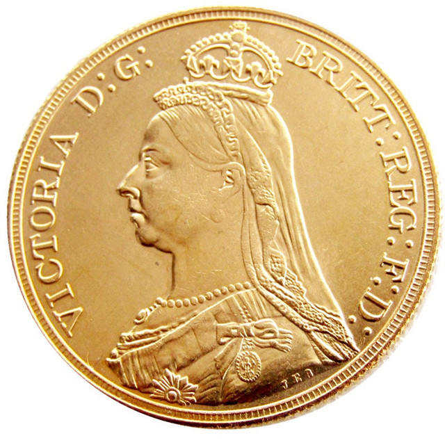 US $3 21 25% OFF|England UK 1887 One Crown Queen Victoria Gold Plated Copy  Coins-in Non-currency Coins from Home & Garden on Aliexpress com | Alibaba