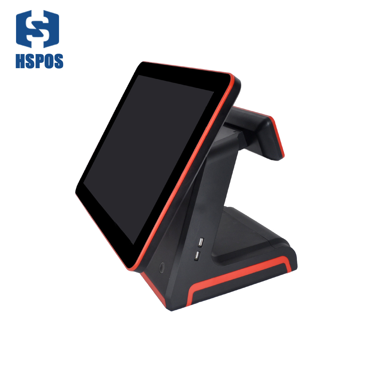 HSPOS 15.6 inch New import LCD Display touch screen monitor Can support single screen and Dual screen for restaurant coffee shop