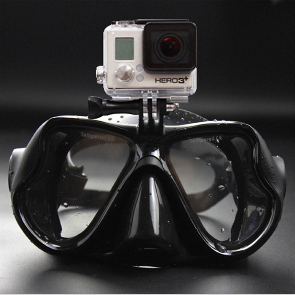 Diving Mask Scuba Snorkel Swimming Goggles Gopro xiaoyi xiaomi Camera  Water Sports DV Wide Angle Professional Underwater