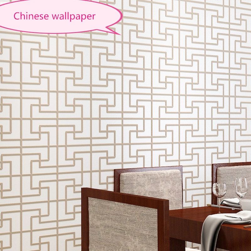 Modern Simple New Chinese Plain Bronze Pattern Non-woven Wallpapers room Classical Swastika Living Room TV Backdrop Wall paper beibehang environmentally friendly non woven plain plain wallpapers simple modern bedroom living room tv background wallpaper