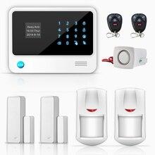 2 x wireless pir motion detector sensor de puerta de control remoto g90b WIFI GSM GPRS Sistema de Alarma puede Compatible Cámara IP WIFI APP